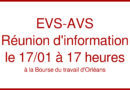 EVS-AVS : Réunion d'information 17 janvier à 17h