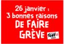 3 raisons de faire grève le 26 janvier