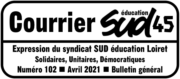 COURRIER SUD 102 – bulletin de SUD éducation Loiret