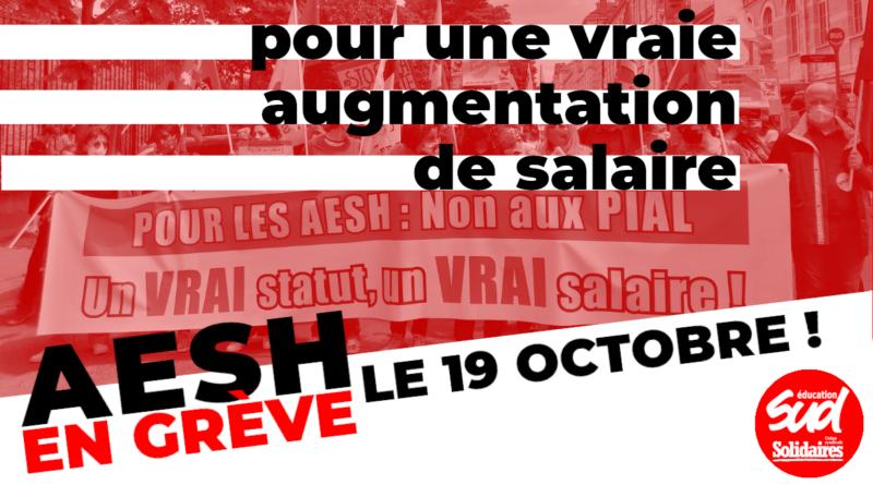 Pas d'école inclusive sans les AESH ! Tou·tes en grève le 19 octobre !